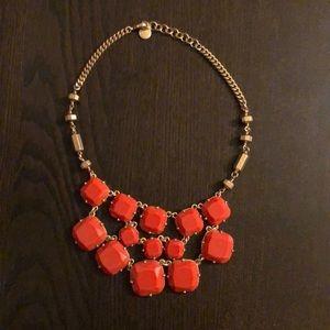 Stella & Dot Orange Olivia Statement Necklace